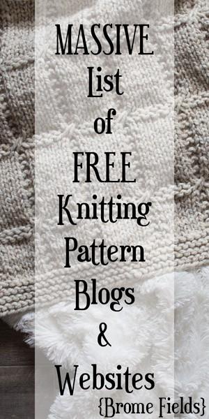 MASSIVE List of FREE Knitting Pattern Blogs & Websites