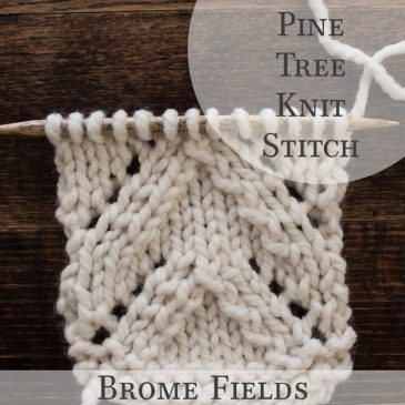Pine Tree Knit Stitch