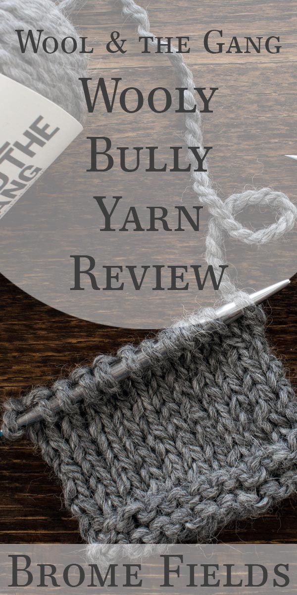Wooly Bully Alpaca by Wool and the Gang Yarn Review Video by Brome Fields