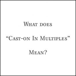 Video: What Does Cast On In Multiples Mean