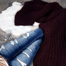 FREE Super Chunky Blanket Knitting Pattern!