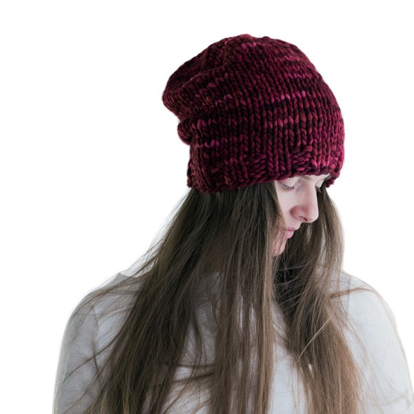 CRAZY : Women's Slouchy Hat Knitting Pattern