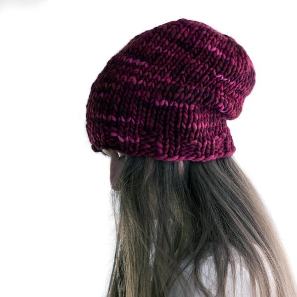 Crazy Women S Slouchy Hat Knitting Pattern Brome Fields