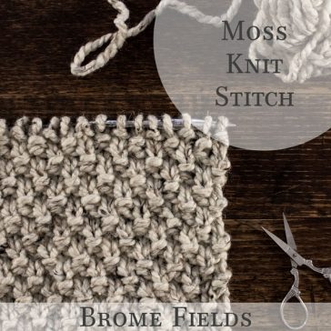 How to knit the Moss Stitch, video tutorial