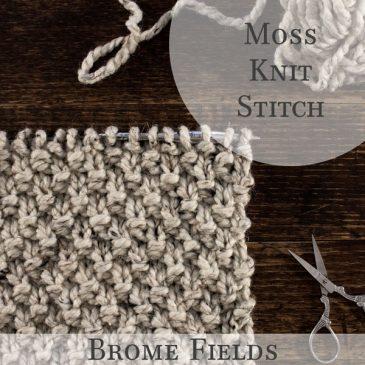 Moss Knit Stitch