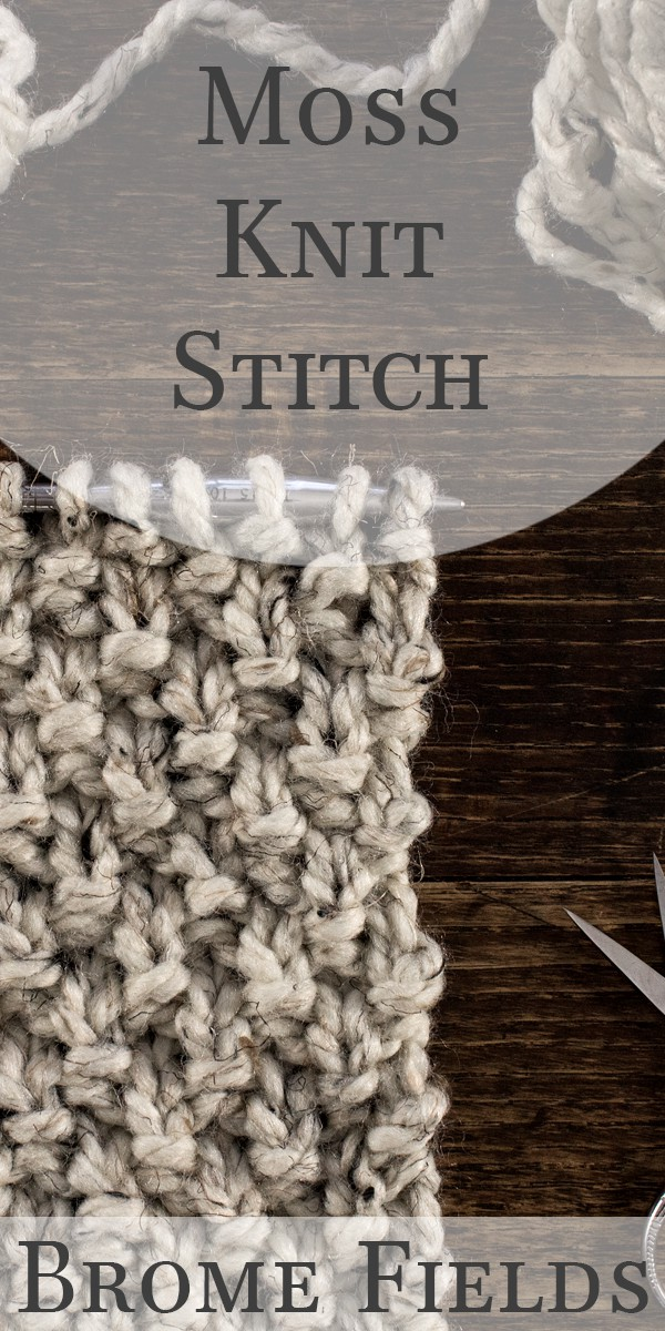 How to knit the Moss Stitch, video tutorial + FREE Scarf Cowl Knitting Pattern