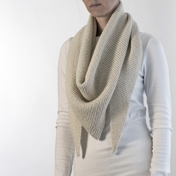 Free Grab N Go Triangle Shawl Knitting Pattern Brome Fields
