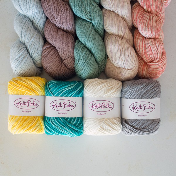 Which one do I use first!? Knit Picks Cotton Yarn. Dishie. Billow. Color Mist.