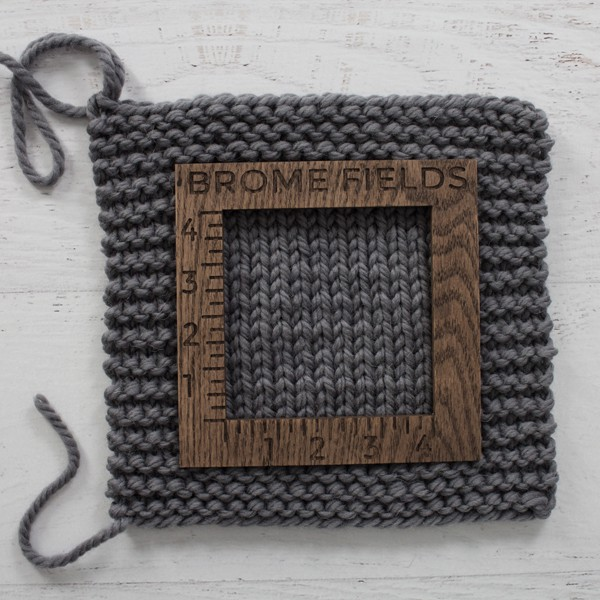 yarn swatch with gauge