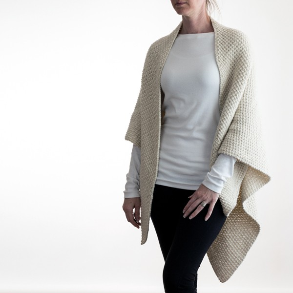 Over-sized Shawl Knitting Pattern by Brome Fields {Unconditional Love}