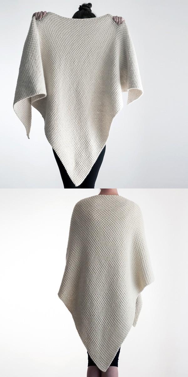 Triangle Shawl Knitting Pattern by Brome Fields