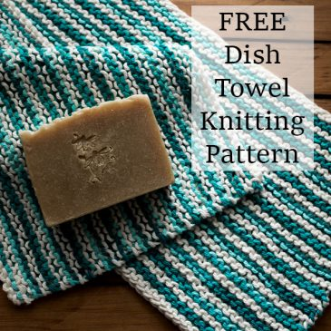 knit dish towel on a table Fields