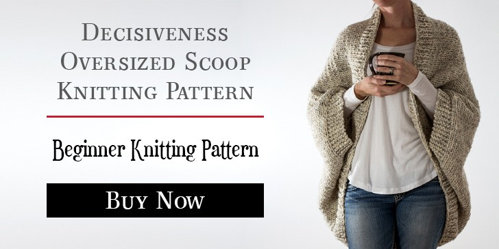 Decisiveness Scoop Shrug Knitting Pattern by Brome Fields