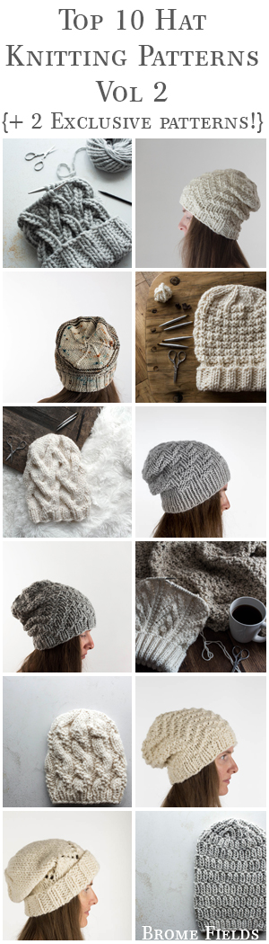 Top 10 Hat Knitting Patterns eBook Vol 2 by Brome Fields