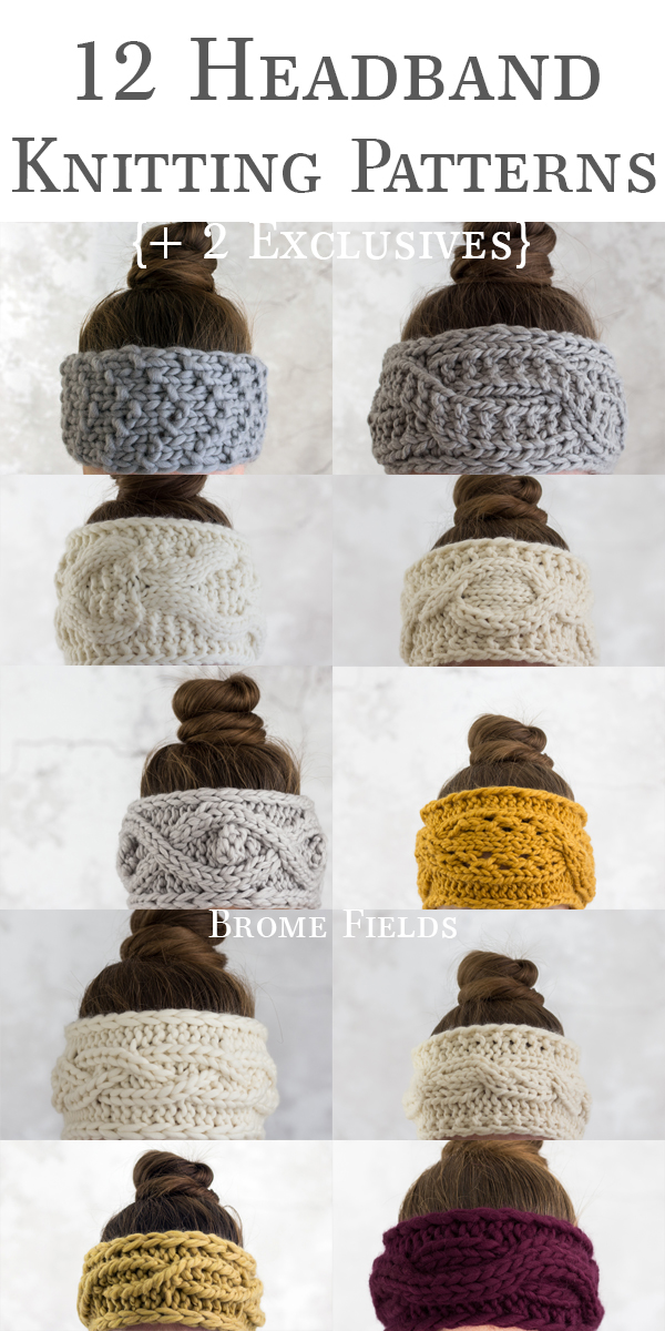 12 Headband Knitting Patterns