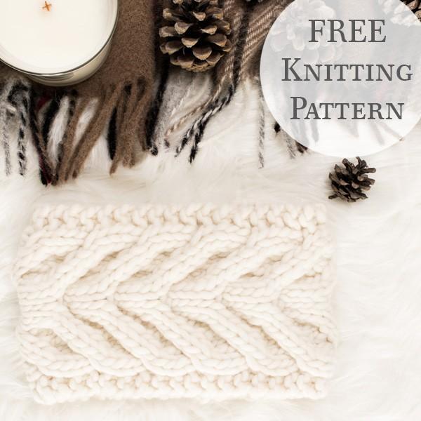 ABUNDANCE Chunky Cable Headband Knitting Pattern