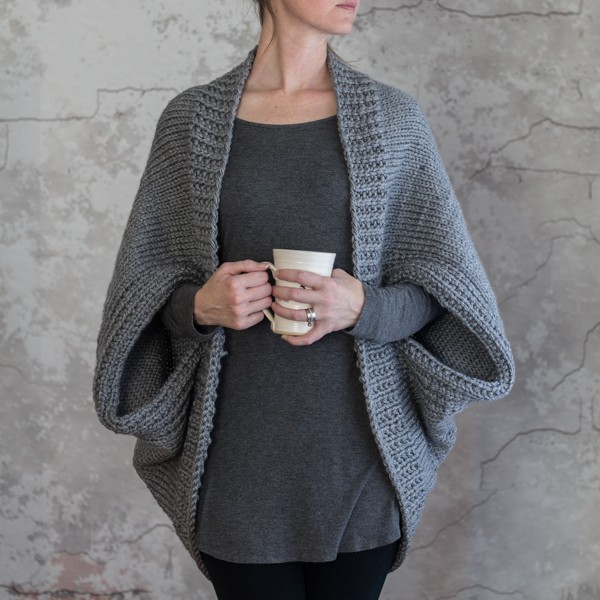 Scoop Shrug Knitting Pattern : Glamorous - Brome Fields