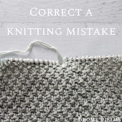 Learn how to fix a wrong knit & purl stitch one round below while knitting in the round.
