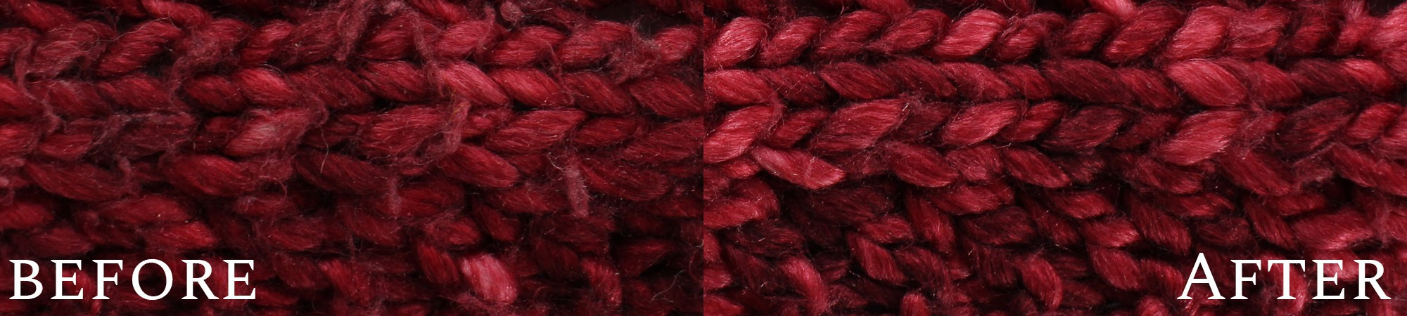Shave your knitwear VIDEO + before & after photos
