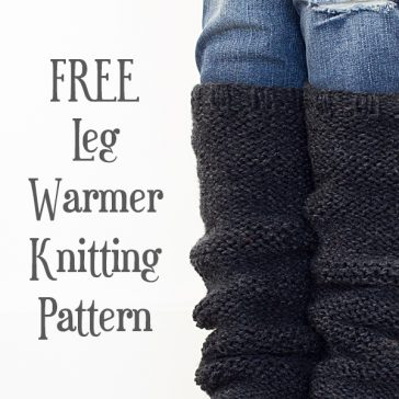 FREE Leg Warmer Knitting Pattern : Garter Stitch : Knit Flat : Brome Fields