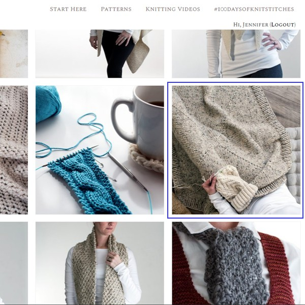 Choose the free pattern you'd like to knit.