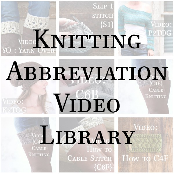 Knitting Abbreviations Collage
