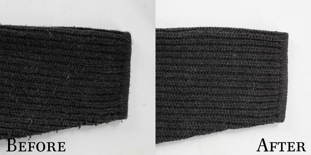 Shaver Before & After Store Bought Sweater