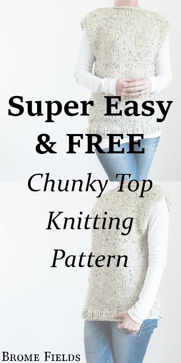 FREE THICK & QUICK Fall Top Knitting Pattern by Brome Fields