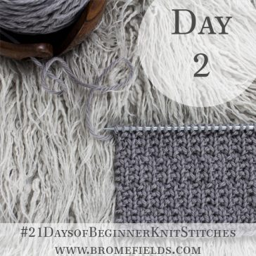 Alternating Broken Rib Knit Stitch : Day 2 of the 21 Days of Beginner Knit Stitches : Brome Fields
