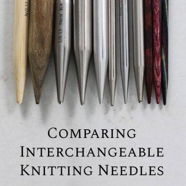 Comparing Interchangeable Knitting Needles