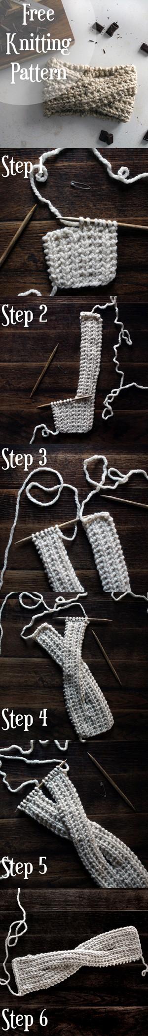 FREE ADVENTUROUS : Headband Knitting Pattern by Brome Fields