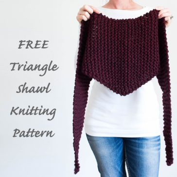 FREE Triangle Scarf/Cowl Knitting pattern +VIDEO tutorial by Brome Fields