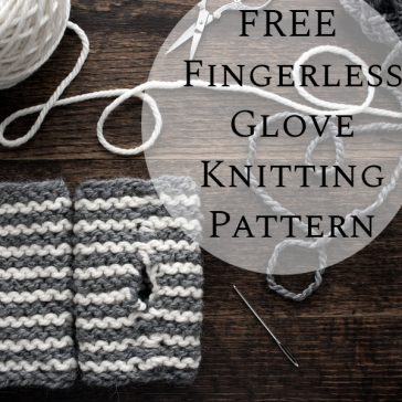 Grab the FREE CURIOUSER : Fingerless Gloves Knitting Pattern, super easy stripes, knit flat with 2 how-to videos. Great left-over yarn project!