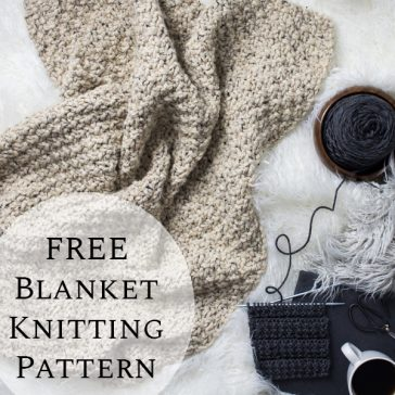 FREE Blanket Knitting Pattern : Thrifty : Brome Fields