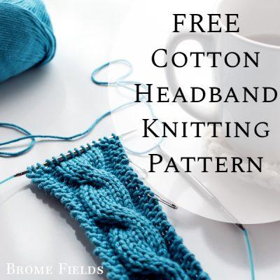 FREE Cotton Headband Knitting Pattern