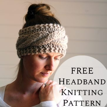 FREE Cable Headband Knitting Pattern : Friendship : Brome Fields