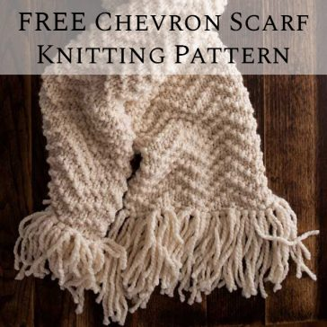 FREE Chevron Scarf Knitting Pattern by Brome Fields