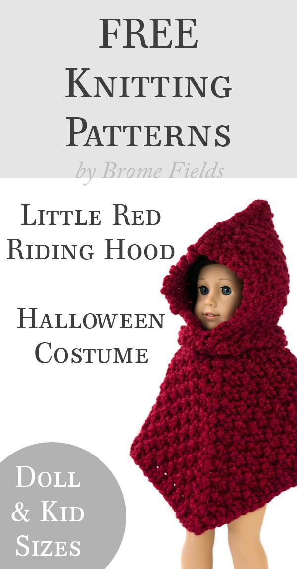 FREE Knitting Pattern: Little Red Riding Hood Halloween Costume