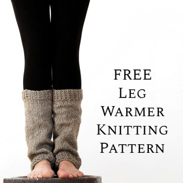 FREE Leg Warmer Knitting Pattern! by Brome Fields