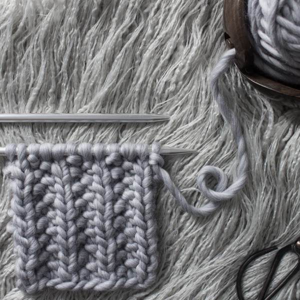 Seed Rib Stitch Knit Stitch : Day 13 of the 21 Days of Beginner Knit Stitches : Brome Fields : #21daysofbeginnerknitstitches