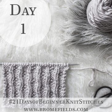Dotted Ladder Knit Stitch : Day 1 of the 21 Days of Beginner Knit Stitches : Brome Fields