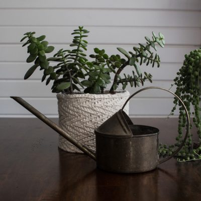 Herringbone Plant Pot Knitting Pattern