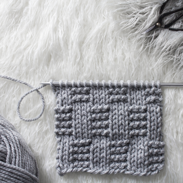 Alternating Garter Rib Knit Stitch : Day 3 of the 21 Days of Beginner Knit Stitches : Brome Fields : #21daysofbeginnerknitstitches