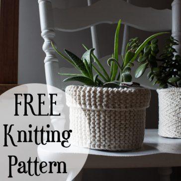 Garter Stitch Plant Pot Knitting Pattern