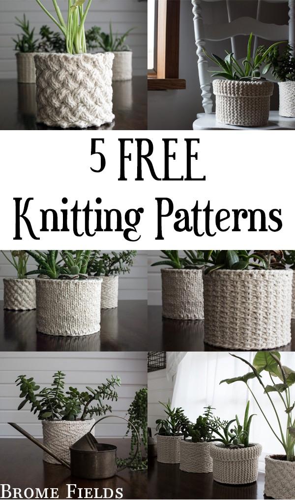 5 FREE Knitting Patterns!