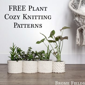 FREE Plant Cozies Knitting Patterns