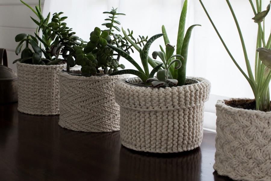 FREE Plant Cozies Knitting Patterns