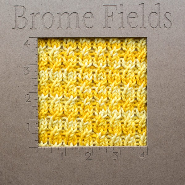 {FREE} Dishcloth Knitting Pattern Gauge : SPRIGHTLY : Brome Fields