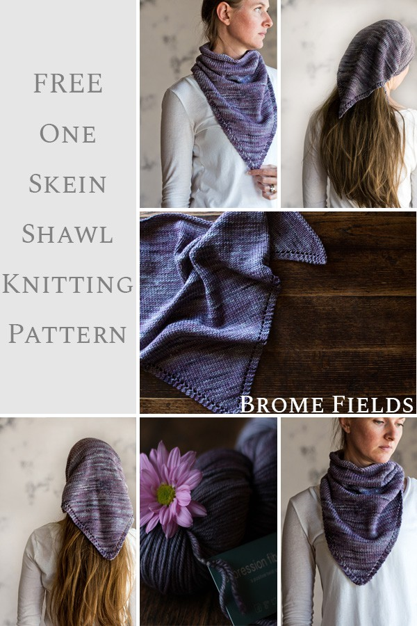 FREE 1-Skein Triangle Scarf Knitting Pattern : CHEERFUL