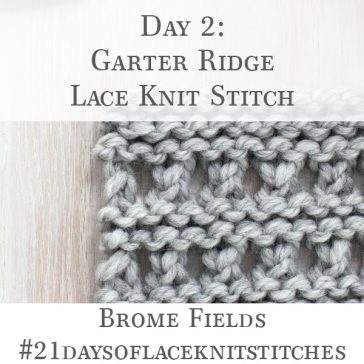 Swatch of Garter Ridge Lace Knit Stitch